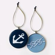 Navy Anchor Ornament