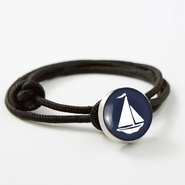 Navy Sailboat Rope Bracelet
