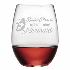 Not Being a Mermaid Stemless Wine Glasses - S/4