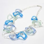 Ocean Colors Ruffle Necklace