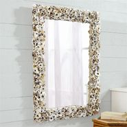 Oyster Bay Rectangular Shell Wall Mirror