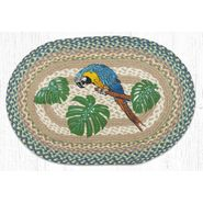 Parrot Patch Oval Patch Braided Rug