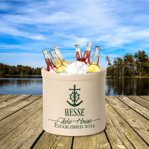 Personalized Anchor Lake House Crock