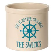 Personalized Life is Better on a Boat Crock