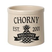 Personalized Pineapple Established / Welcome Crock