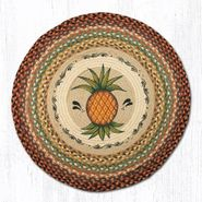 Pineapple Round Patch Braided Rug