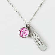 Pink Compass Rose Necklace