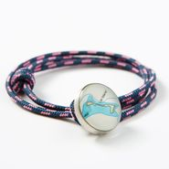 Pink & Navy Custom Rope Bracelet