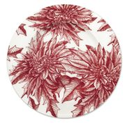 Poinsettia Charger Plate