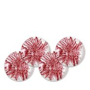Poinsettia Red Canapes S/4