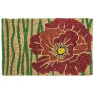 Red Bloom Handwoven Coconut Fiber Door Mat