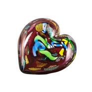 Red Hearts of Fire Paperweight