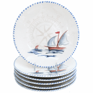 Sailboat Dinner Plates (set of 6)