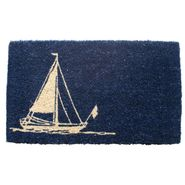 Sailboat Handwoven Coconut Fiber Door Mat