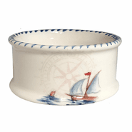 Sailboat Wine Bottle Coaster/Dipping Bowl