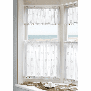 Sand Dollar & Starfish Valance With Trim