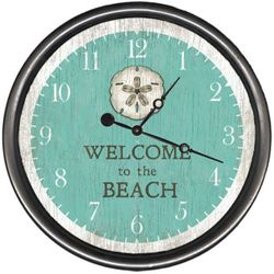 Sand Dollar Welcome Wall Clock