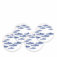 School of Fish Blue Canap�s Boxed (set of 4)