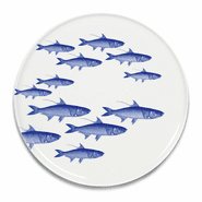 School of Fish Blue Coupe Platter
