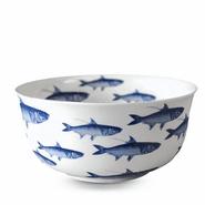 School of Fish Blue Presentation Bowl