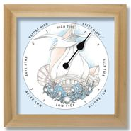 Sea Bird & Shell Nautical Tide Clock