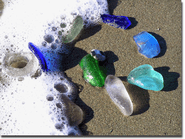 Sea Glass and Foam Photo