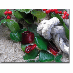 Sea Glass and Holly Photo