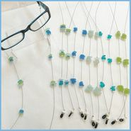 Sea Glass Eyeglass Chain