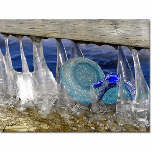 Sea Glass in the Ice Photo