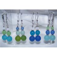 Sea Glass Multi Color Drop Earrings