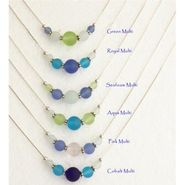 Sea Glass Multi Color Slide Necklace