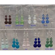 Sea Glass Solid Color Drop Earrings