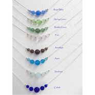 Sea Glass Solid Color Slide Necklace