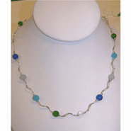 Sea Glass Wave Necklace