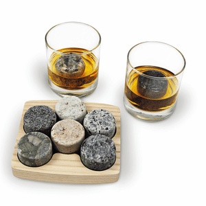 Sea Stones On the Rocks Chilling Stones with Tray and Tumblers