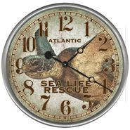 Sea Turtle Rescue Clock Wall Clock