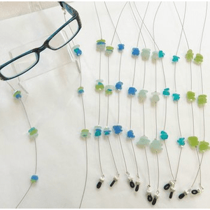 Sea Glass Eyeglass Frame Chain
