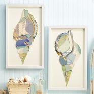 Shell Collage Wall Art - S/4