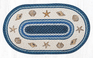 Shells Oval Patch Braided Rug