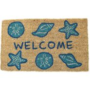 Shells Welcome Handwoven Coconut Fiber Door Mat