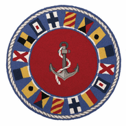 Signal Flags Round Hook Rug