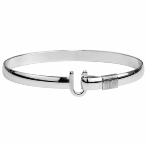 Silver Wrap Titanium Hook Bracelet (6mm)
