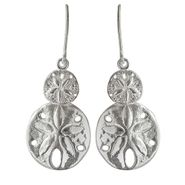 Small & Medium Sand Dollar French Wire Earrings