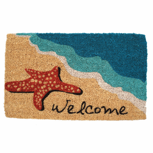 Starfish Welcome Hand Woven Coir Doormat