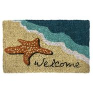 Starfish Welcome Handwoven Coconut Fiber Door Mat