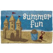 Summer Fun Handwoven Coconut Fiber Door Mat