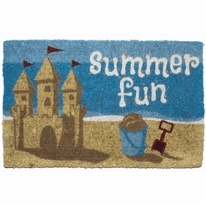 Summer Fun Handwoven Coconut Fiber Doormat