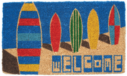 Surf Boards Hand Woven Coir Doormat