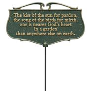 The Kiss of the Sun Garden Poem Sign