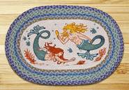 The Mermaids Oval Patch Braided Rug